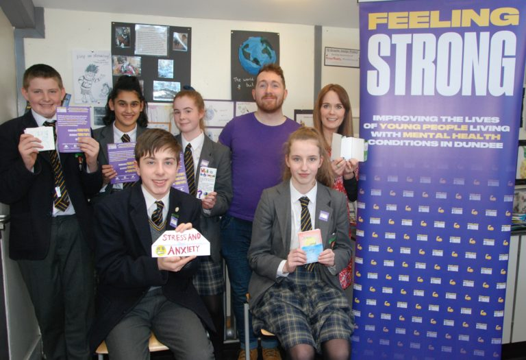 Pupils help charity to boost mental health in Dundee